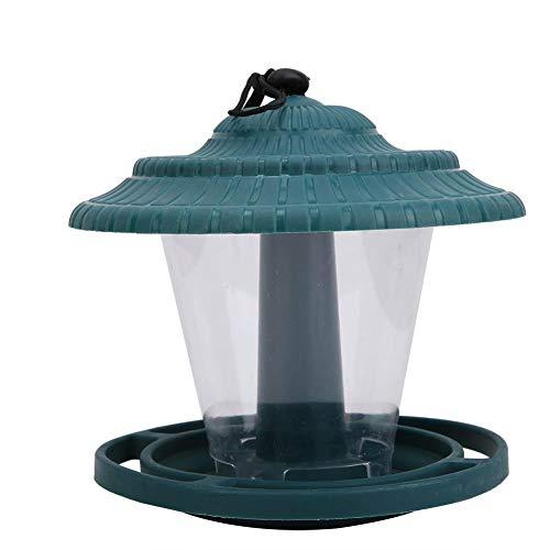 Salinr バードフィーダー 広いフィードスペース 餌箱ガーデン 屋根付き 大容量 餌台 給餌 えさ台 楽に 洗える メンテナンス 楽々 鳥の餌箱 - 庭に掛ける 餌台 吊り下げタイプ ペット用品 鳩 野鳥観察 鳥 屋外可用