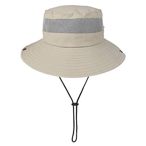 Sombrero de sol para hombre Primavera y Verano al aire libre plegable sombrero grande aleros transpirable sombrero de pescador