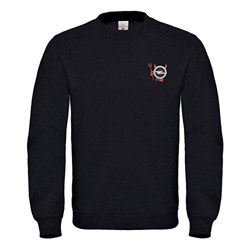 Opel - Devil Teufel Bestickte Logo Sweatshirt Premium Qualität - 6065 (M)