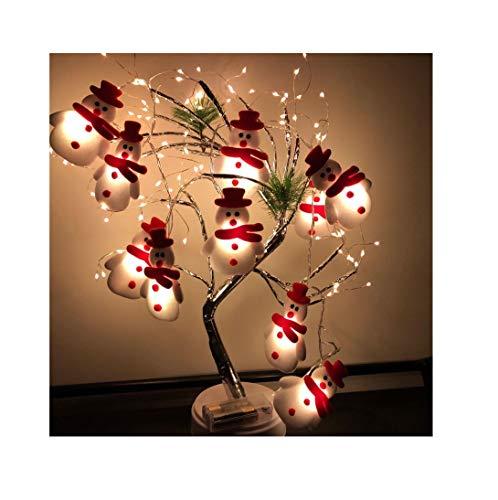 DEtrade Weihnachten Schneemann Led Lichterketten, Weihnachtsmann Lichterketten für Outdoor Indoor Weihnachtsdekoration, Weihnachtsbaum Ornamente, Weihnachtsfeier Dekoration Laterne (1.65M, 10led, USB)