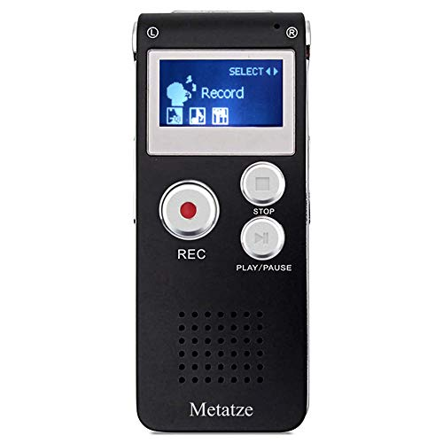 Digital Voice Activated Recorder, Metatze 8GB Mini Audio Recorder with Lavalier Microphone Noise Reduction Long Battery Life USB Rechargeable HD Sound Portable Recording Device Lectures Meetings
