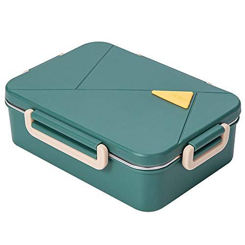 Lunchbox- Salatbehälter Mit Abnehmbarem Essenbox Fach Und Deckel Aufbewahrungsbehälter Bento Box Für Mittagessen, Snacks, Schule Und Reisen Sortierte 23,2 X 16,8 X 7,1 cm