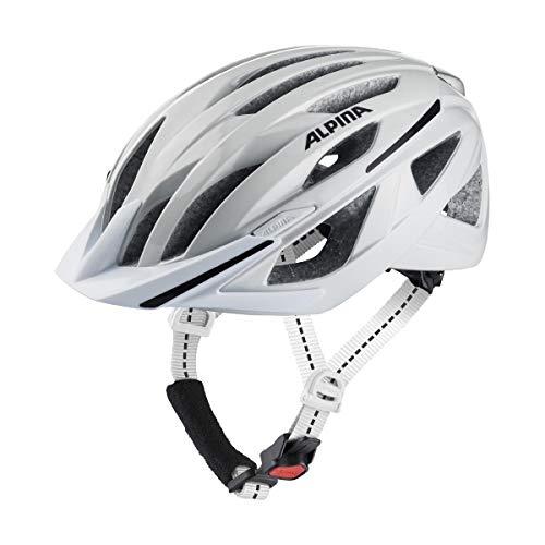 ALPINA Unisex - Erwachsene, HAGA Fahrradhelm, white gloss, 58-63 cm