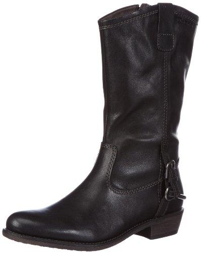 Tamaris Damen Cowboy Stiefel, Schwarz (Black 001), 39
