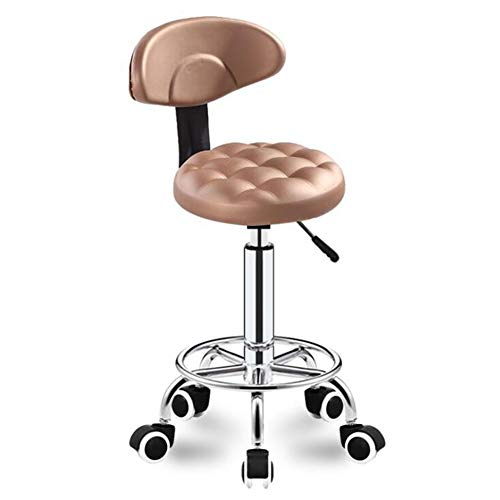 CANDYANA Draaibare bureaustoel Salon Massage Kruk voor Schoonheid Spa Kappers Manicure Tattoo Therapie Tattoo Klinische Tandarts, Verstelbare Hoogte