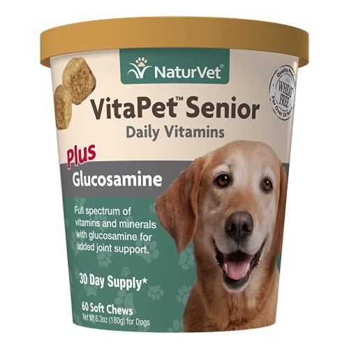 NaturVet VitaPet Senior Daily Vitamins Plus Glucosamine