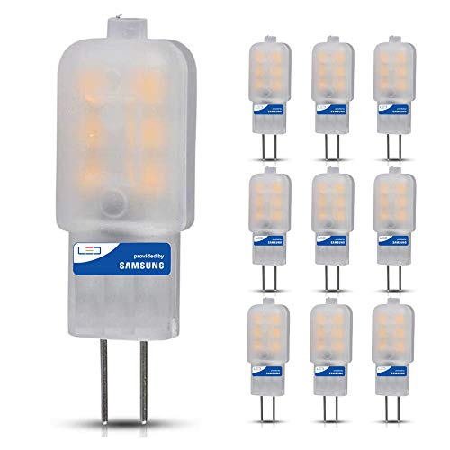 10 Pack - Samsung LED G4 12V Capsule 1.5W | 10W Equivalent Retrofit | 6400k Cool White (Daylight) | 300° Wide Beam Angle | 100 Lumen | 30,000 Hours Extreme Long Life | 80+ CRI | Commercial Grade Chip