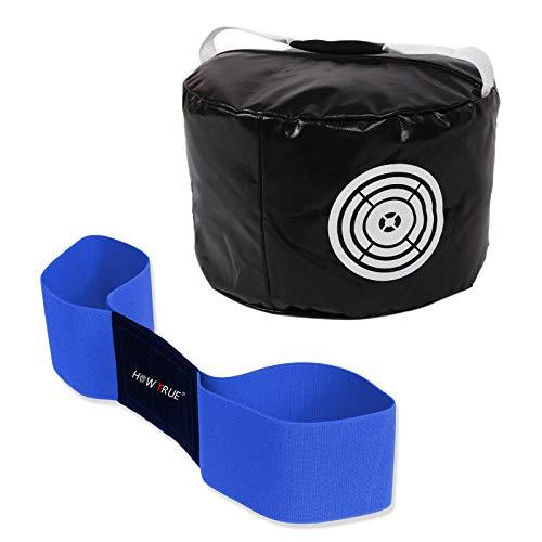HOW TRUE Smash Bag Arm Band Combo Golf Hitting Bag Golf Impact Swing Trainer, Black