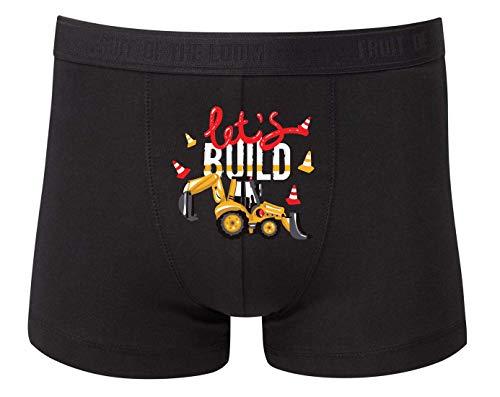 Druckerlebnis24 Boxershort - Lets Build Bagger Traktor - Unterhose für Herren und Männer