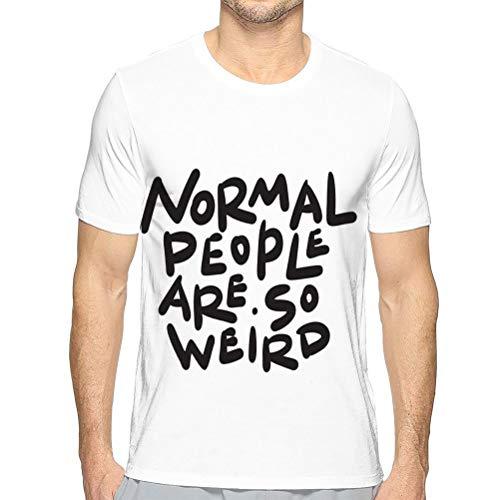 Camisetas de Manga Corta Casuales para Hombre Camisetas de Gente Normal Camiseta de Manga Corta extraña