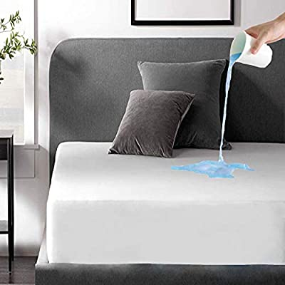 Waterproof Mattress Pad Protector Cover Twin Deep Pocket 39x75 Breathable Noiseless 8-20Inches Bed Smooth Jersey Mattress Pad Cover Fully Ultra Thin by Niagara Sleep Solution