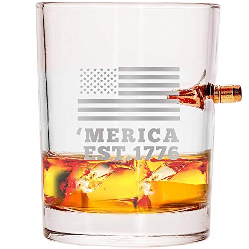 Visit the Lucky Shot .308 Real Bullet Handmade Whiskey Glass on Amazon.