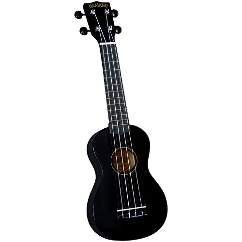 Hamano U-30BK Colorful Soprano Ukulele - Black