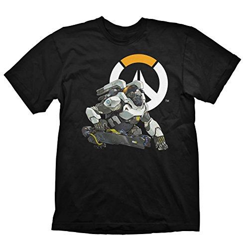 Overwatch T-Shirt Winston Logo, Größe L