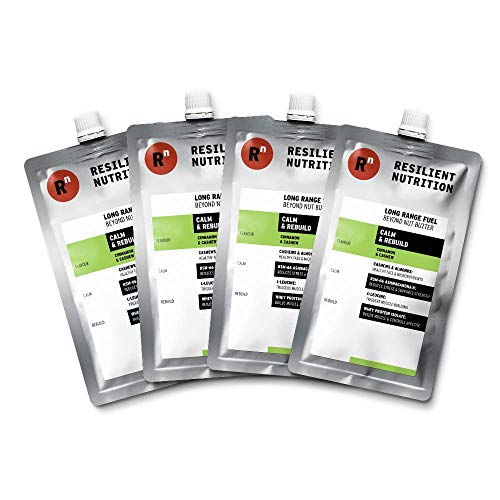Resilient Nutrition Long Range Fuel – Cinnamon & Cashew Calm & Rebuild – 4 x 100g Pouches - Natural Energy Nut Butter - High Protein Adaptogenic