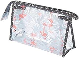 Flamingo Cute Travel Makeup Pouch Cartoon Printed Toiletry Cosmetic Bag for Girls, Women