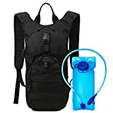HWJIANFENG Hydration Pack Hydration Bladder for Backpacking, Hiking, Running, Cycling, and Climbing (Black)
