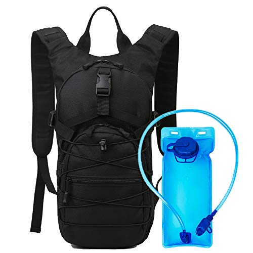 15L Hydration Pack Backpack,2L Water Bladder BPA free,Cycling Backpack Biking Backpack Riding Daypack Bike Rucksack Breathable Lightweight for Travelling Mountaineering Hydration Bag Men Women,black