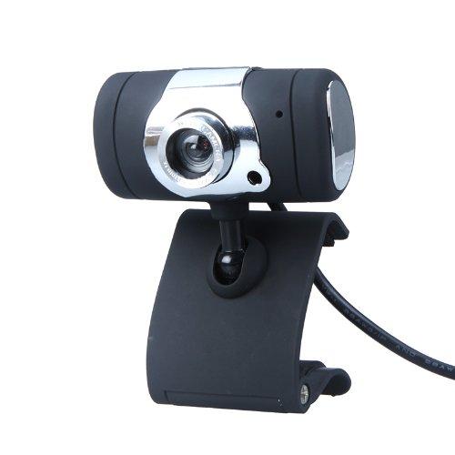 KKmoon USB 2.0 50.0 M Webcam HD Kamera Web Cam mit Mikrofon für Computer PC Laptop Schwarz