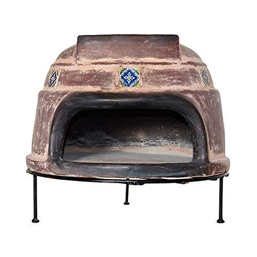 Tierra Firme WRPO-002-N Ravenna Talavera Wood-Fired Outdoor Pizza Oven, Rustic Brown