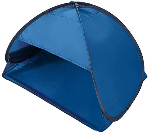Beach Sun Shelters,Instant Sun Shade Canopy Head PopUp Canopy Automatic Shade Tent for Camping Fishing Hiking Picnic Portable Sun Shelter Windproof Waterproof with Mobile Phone Stand (70x50x45cm)