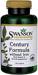 Swanson Century Formula Multivitamin Without Iron 130 Tabs
