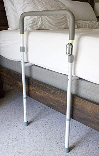 LumaRail Bed Assist Rail, Support Bar Handle. Includes LED Motion Sensor Nightlight + FREE Anchor Strap. New Model works with LOW BEDS and ADJUSTABLE HEIGHT TOP-RAIL ACCOMMODATES THICK MATTRESSES