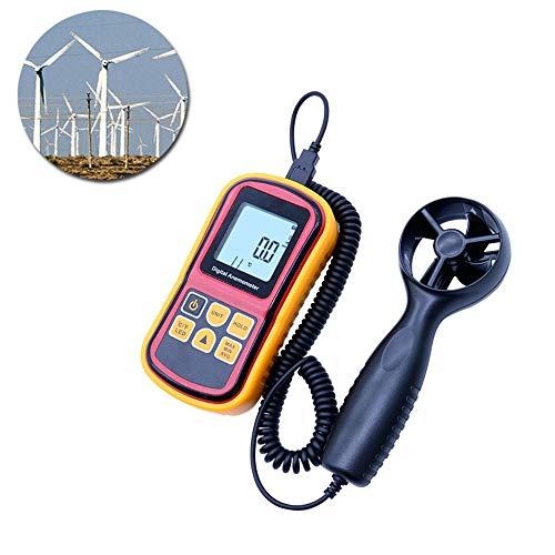 NBLYW zakwindmeter 0~45 m/s, met LCD-display, luchtstroom voor het meten van de windsnelheid, max/min/AVG en gegevensopslag