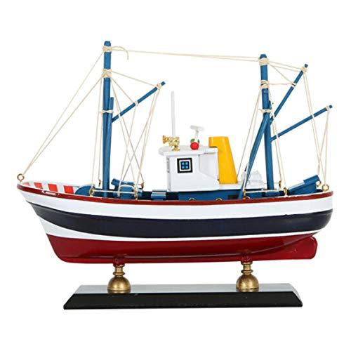 Ptcta Escultura Decorativa Mediterráneo simulación Modelo de velero Adornos de decoración Sala de Estar Estudio Barco de Pesca Adornos de Escritorio Oficina esculturas Decoracion Moderna Gigante