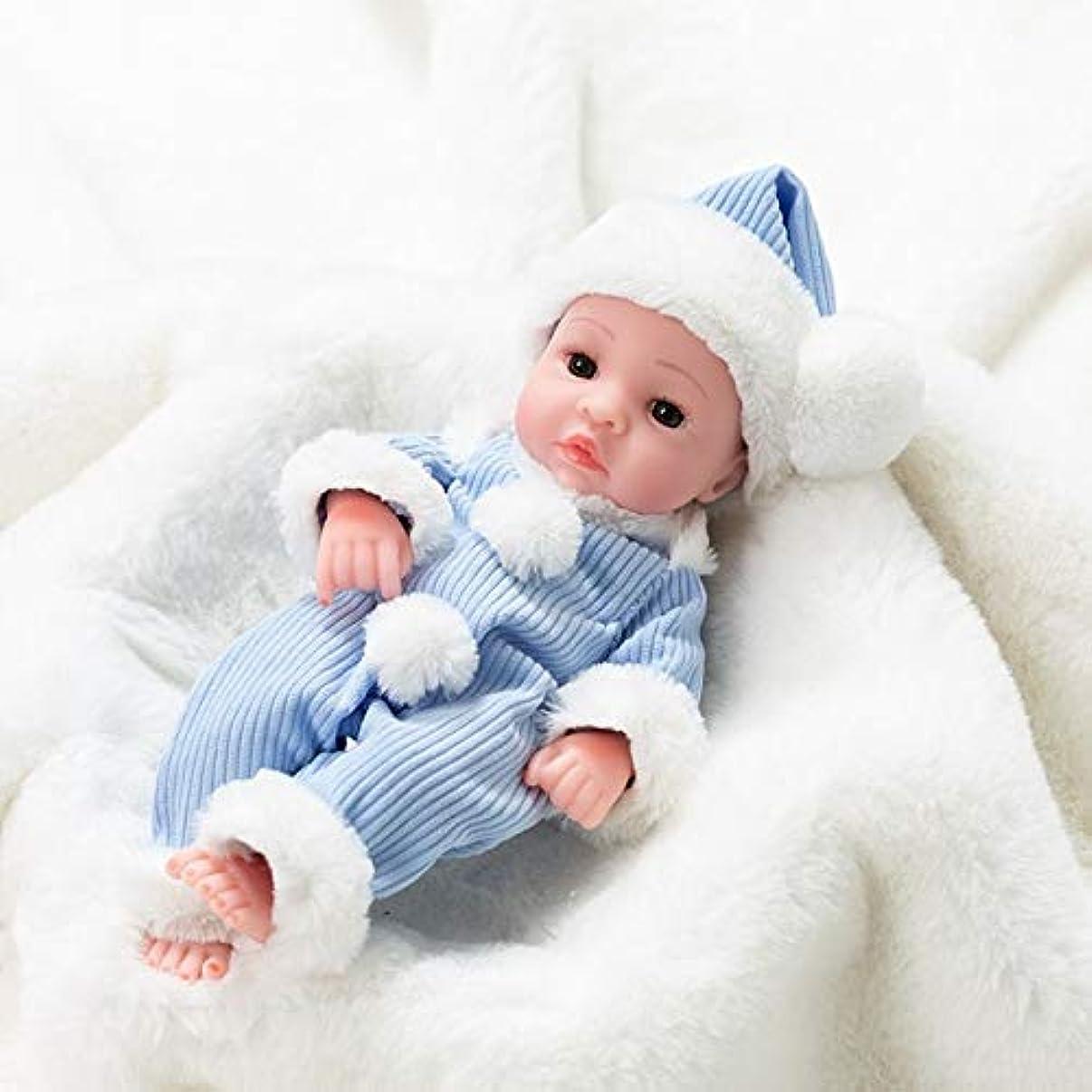 失敗遠足関連するLZDD 35センチメートルラブリーベビードールリボーンフル?ソフトシリコーンの現実的なリボーン赤ちゃんのボディリアルアライブ赤ちゃんのおもちゃ女の子の子供のギフト人形のために (Color : Purple, Size : 35cm)
