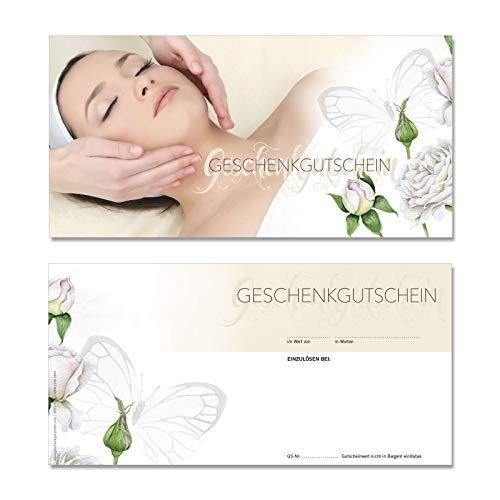25 hochwertige Gutscheinkarten Geschenkgutscheine DIN-lang. Gutscheine für Kosmetikstudio Kosmetiksalon Kosmetik. Vorderseite hochglänzend. KS9277