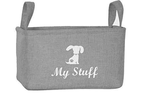 Morezi Aufbewahrungsbehälter für Haustier-Spielzeug und Zubehör, aus Leinen, ideal für die Organisation von Haustier-Spielzeug, Decken, Leinen und Futter