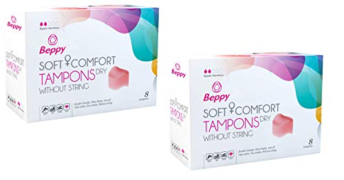 Beppy - Classic Comfort tampon dry - sec - inalámbrico - pour plus de liberté - vegan - 16 tampons (2x8)