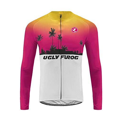 Uglyfrog Winter Warm Vlies Radsport-Shirt Long Sleeve Herren,Radtrikot mit Lange Ärmel,Fahrradhemd Jacket,Hemd für Das Fahrrad,Fahrrad Trikot für Männer