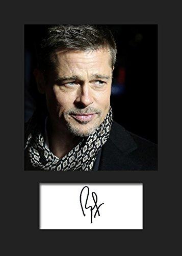 Brad Pitt #2 | Signierter Fotodruck | A5 Größe passend für 6x8 Zoll Rahmen | Maschinenschnitt | Fotoanzeige | Geschenk Sammlerstück