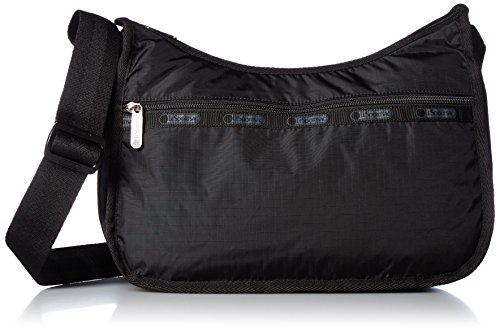 LeSportsac Classic Hobo Handbag, Black, One Size