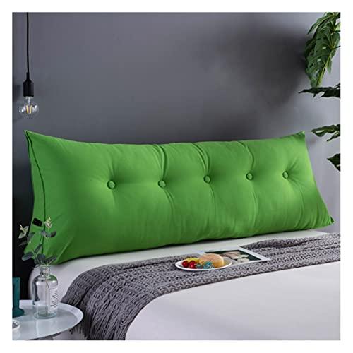 ZSFBIAO Respaldo de Lectura Cojín De Lectura Triangular Cojín Grande Sofá Almohada Cojín De La Cabeza De La Cama (Size:180x50x20cm(6 Buttons),Color:Verde)