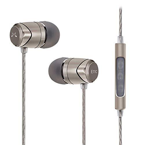 SoundMAGIC E11C In-Ear-Kopfhörer mit Mikrofon und Fernbedienung, für Musikliebhaber, silberfarben
