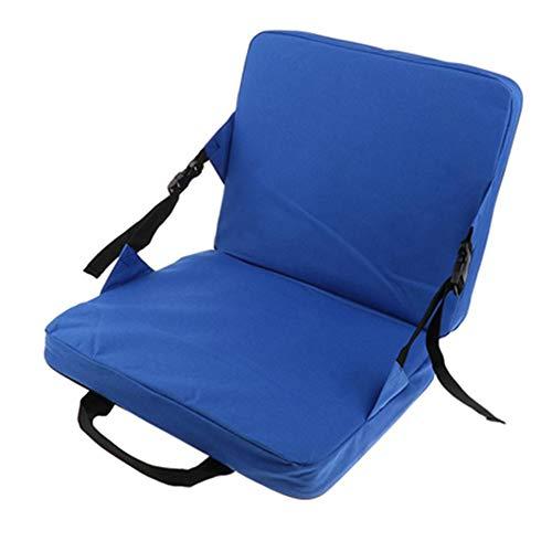 zhbotaolang Extérieur Pliage Chaise Siège Coussins - Portable Pêche Voiture Herbe Séance Tampon Pliant Camping Tabouret Bleu