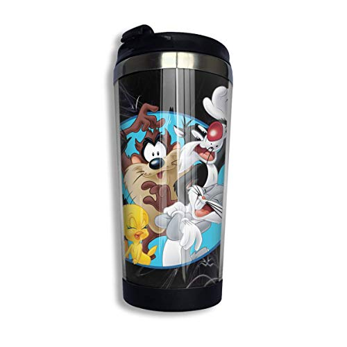 MKLQ Bugs Bunny & Taz Tweety Daffy Sylvester Die Katze Reise isolierte Tasse Kaffee Edelstahlbecher