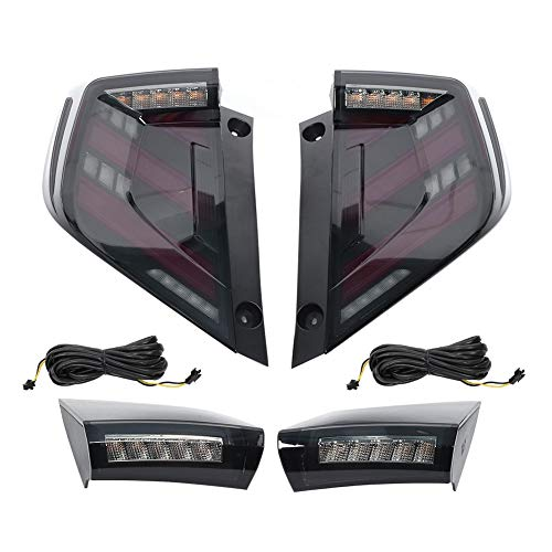 Gruppo luci di coda a LED per rimorchio Refit Coda super luminosa Segnale di svolta Freno di retromarcia Fanale posteriore per Mugen Style Adatto per honda Civic 10th Hatchback FK 2016-2020
