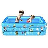 YUWEX Schwimmbecken 51 x 33 x 19 Zoll groß Aufblasbarer Swimmingpool Runden Planschbecken für Kinder Sandspielzeug Outdoor Indoor