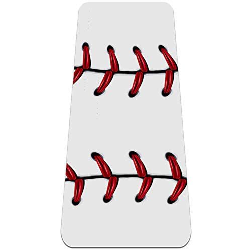 Esterilla Yoga Mat Antideslizante Profesional - Bola de béisbol de suave encaje rojo - Colchoneta Gruesa para Deportes - Gimnasia Pilates Fitness - Ecológica