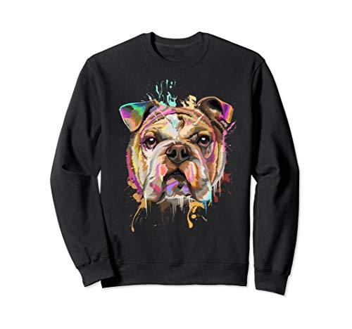 Splash Art English Bulldog Sweatshirt | Bulldog Lovers Gifts
