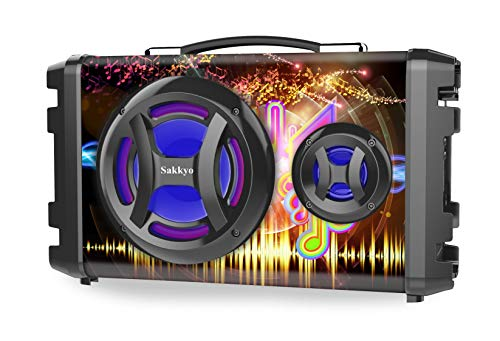 Altavoz Portátil Sakkyo APM80, Potencia 40W RMS (Altavoz + Tweeter + Bass Reflex), MP·, USB, Micro SD, Bluetooth