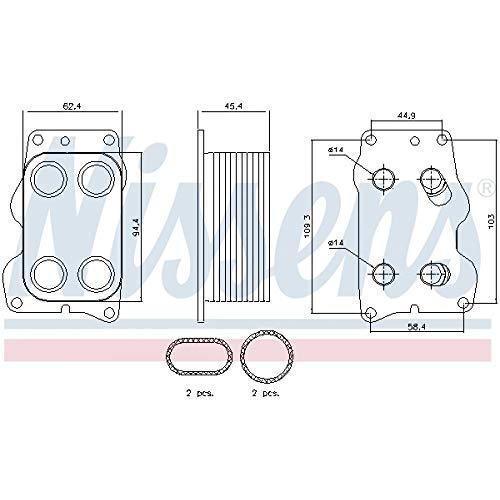 Ölkühler Motoröl - Nissens 90740