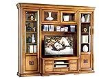 Artigiani Veneti Riuniti Mueble de Pared, Mueble de TV en Madera Estilo clásico