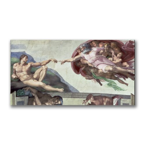 Sistine Chapel Ceiling by Michelangelo, 24x47-Inch Canvas Wall Art