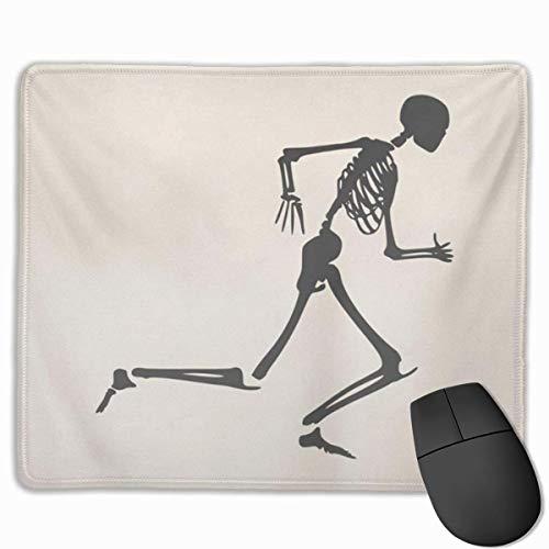 Nettes Gaming-Mauspad, Schreibtisch-Mauspad, kleines Mauspad für Laptop-Computer, Maus-Matte-Lauf menschliches Skelett, das Halloween-Party-Anatomie läuft