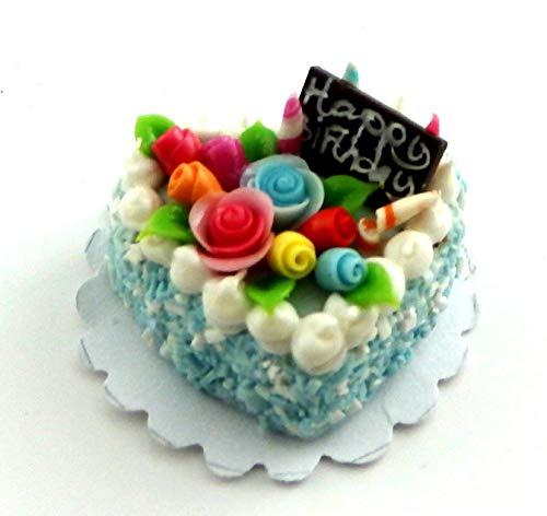 Melody Jane Maison De Poupées Rose Décoré En Forme De Coeur Gâteau D'anniversaire Célébration Fête D
